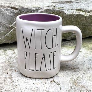 Rae Dunn WITCH, PLEASE Purple Halloween Mug